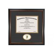 Signature Announcements Marco de Diploma de graduación de 16 x 16 Pulgadas, Color Caoba Mate