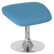 Flash Furniture Fabric Ottoman - Aqua, 19 1/2Inch W x 15Inch D x 17 1/2Inch H, Model CH162430OAQFAB