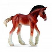 Figurina Manz Clydesdale M, Collecta, COL88625M, 10.5 x 9.5 cm