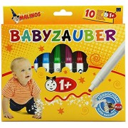 Toys Bhoomi Malinos 10 Piece Baby Crayon Magic Color Pen for Toddlers Easy to wash & Non-Toxic 300011 - Made in Germany