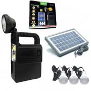 Kit Solar Incarcator Urgente Lanterna si Becuri GdLite GD8033 6V 4.5A