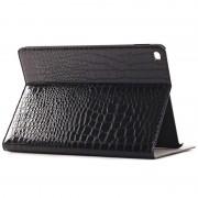 Bolsa Em Pele em Folio Para iPad Air 2 - Crocodilo - Preto