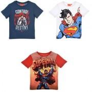 Superman kortärmad T-shirt (Röd, 6 ÅR - 116 CM)