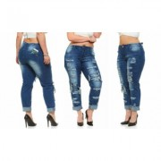 Women's CoverGirl Cover Girl Women's Ripped, Distressed or Repaired Jeans (Also in Plus Sizes) 9 Skinny Electric Blue