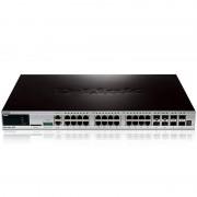 D-Link xStack DGS-3420-28TC Switch Gestionable 24 Portas Gigabit + 4 Portas SFP Combo
