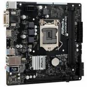 Дънна платка ASRock H310CM-HDV, H310, LGA1151, DDR4, PCI Е (HDMI&DVI&VGA), 4x SATA3 6.0 Gb/s, 2x USB 3.1, micro ATX, H310CM-HDV