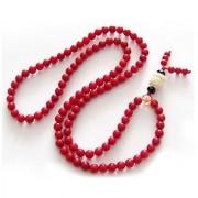 100 Original Certified Red Coral Beads Mala By Jaipur Gemstone