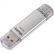 Флаш памет HAMA Тип USB-C Laeta 124161, 16GB, USB 3.1 Type-C, Сребрист