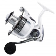 HC6000 6+1 Ball Bearings 5.2:1 Metal Spinning Fishing Reel with EVA Grip - White