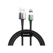 Cablu De date, incarcare, din zinc,magnetic, baseus usb micro usb 2.4a 1m, negru