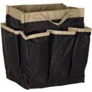 Howards Handbag Organizer Insert Travel Pouch with Zip Large Black/Natural Travel Toiletry Kit(Black)