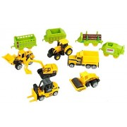 AITING Alloy toy car Agricultural vehicles navvy Forklift Road construction vehicle kids toys