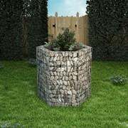 vidaXL Hexagonal Gabion Planter 100x90x100 cm