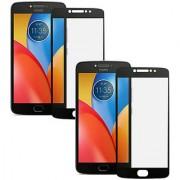 RKR Tempered Glass Combo For Motorola Moto E4 Plus Motorola Moto E4 Plus Black tempered glass Screen Guard