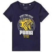Puma Branded Graphic T-Shirt Marinblå 3-4 years