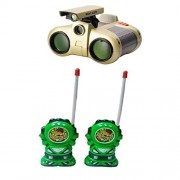 combo of Binocular With Night Vision and green Walkie Talkie set for kids