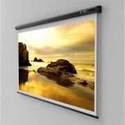 Ecran de proiectie montabil pe perete Sopar New Slim 155 x 155cm, mecanism de blocare, White, 2150SL, SP2150SL