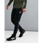 Adidas Black Men/Boy's Polyester Lycra Track Pant