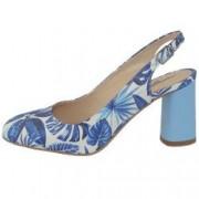 Pantofi dama din piele naturala marca Botta 1034-19-41-05 blue marime 39