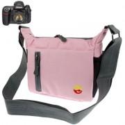Digitális fényképezőgép táska - 19x15x8 cm - RÓZSASZÍN