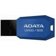 Stick USB A-DATA UV100 Slim Bevelled 8GB (Albastru)