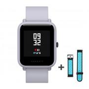 Xiaomi Amazfit Bip fitnesz okosóra GPS (EU verzió) - világosszürke + ajándék fekete-kék szíj
