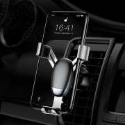 BASEUS Mini Gravity Car Air Vent Bracket Mount for iPhone Samsung etc. - Silver