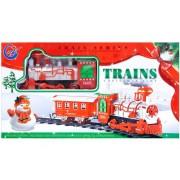Trenulet Craciun cu baterii, 42x23x7 cm