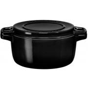 KitchenAid posuda s poklopcem, promjer 24 cm, crna