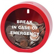 Emergency Money Bank - Fun Twist on Classic Piggy Coin Bank for Girls Boys Kids Children - Helps in Learning to Count Save Money and Development of Basic Learning and Money Skills by Ideas In Life