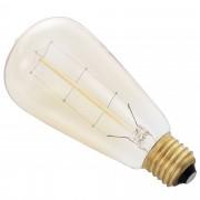 Крушка [in.tec]® Античен дизайн Edison, ø60mm x В140mm,Топлобяла