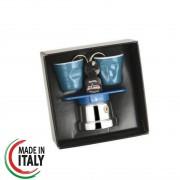 Set Espressor Moka Reginetta Blu