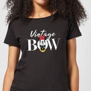 Disney Minnie Mouse Vintage Bow dames t-shirt - Zwart - S - Zwart