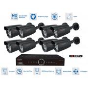 8 kanálový kamerový set - 8x kamera 1080P s 20m IR a AHD DVR