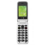 "Doro 7436 "" 2414 "" Easy mobiele telefoon Clamshell telefono cellulare Steel/wit"