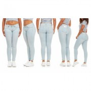 Women's CG Jeans Cover Girl Jeans Women Mid Rise Slim Fit Skinny Junior and Plus Size DARK RINSE Skinny Sky Blue PLUS 14W Denim