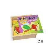 Alinhavos Frutas E Legumes Em Mdf 10 Cadarços 1065 Carlu