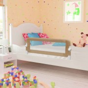 vidaXL Toddler Safety Bed Rail Taupe 120x42 cm Polyester