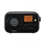 Hordozható FMAM ébresztős rádió, Traveller 120, Bluetooth lejátszás, fekete, PR-D12BT
