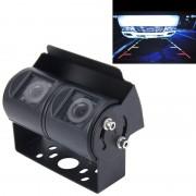 Dual-Head universeel 720 × 540 effectieve pixels 50HZ PAL / NTSC 60HZ CCD waterdicht auto Rear View back-up Camera met 24 LED Lamps(Black)