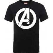 Marvel Camiseta Marvel Los Vengadores Logo Simple - Hombre - Negro - XL - Negro