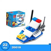 Generic 10 Kinds Transportation Block Car Building Blocks Compatible legoeINGlys Duplo Soliders Police Bricks 20018