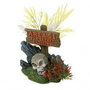 Blue Ribbon Letrero Exotic Environments Area 51, con cráneo, N/A