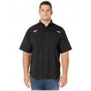 Columbia College Big amp Tall Virginia Tech Hokies Collegiate Tamiamitrade II Short Sleeve Shirt Black