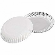 Serving Paper Plates Party Disposable Plate 9 Inch Silver Coated 50 Pcs By One Dish