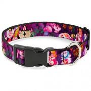 Buckle-Down Collar con Clip de plástico con Hebilla Alice & The Queen of Hearts Scenes 3,8 cm de Ancho Se Adapta a Cuello de 18-32 Pulgadas Grande