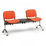Kovo Praktik RAUMAN Čalouněné lavice VIVA, 2-sedák + stolek, chromované nohy modrá