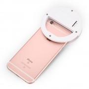 Selfie draagbare flash led camera telefoon fotografie ring licht enhancing fotografie voor iphone smartphone roze wit zwart
