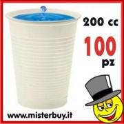 BICCHIERI PLASTICA MONOUSO 200 cc 100 PEZZI