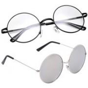 Phenomenal Round Sunglasses(Clear, Silver)